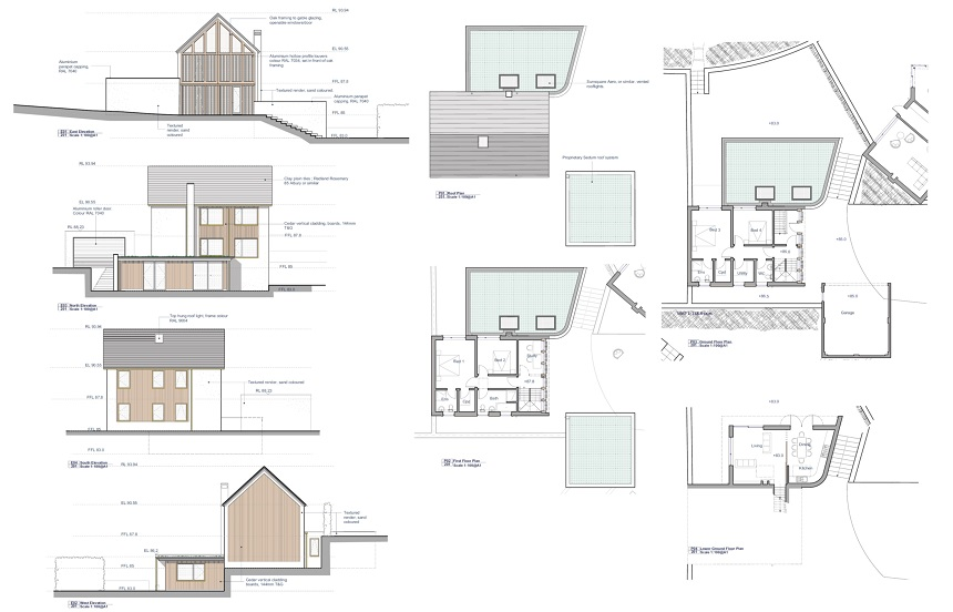 Example of a proposed property and plans at Nailsworth