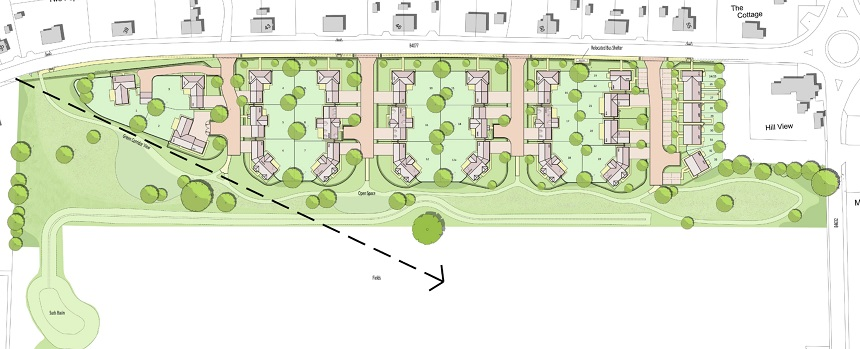Toddington proposed site layout