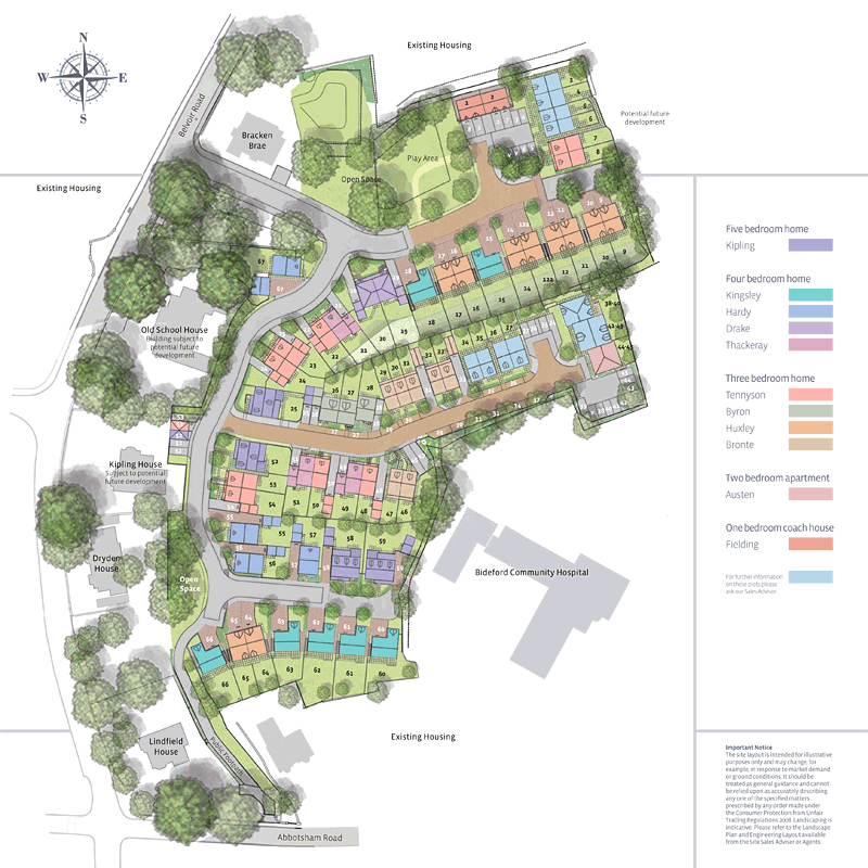 Newland Homes  Site Plan