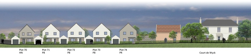 Proposed new homes at Bishops Road, Claverham