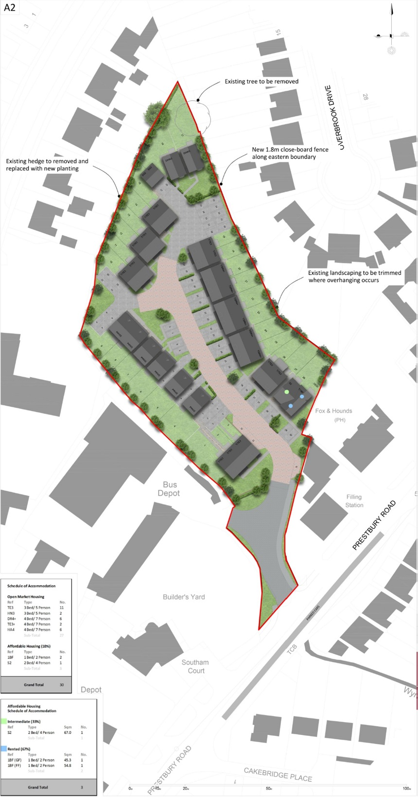 Prestbury Rd Site Layout Rev B