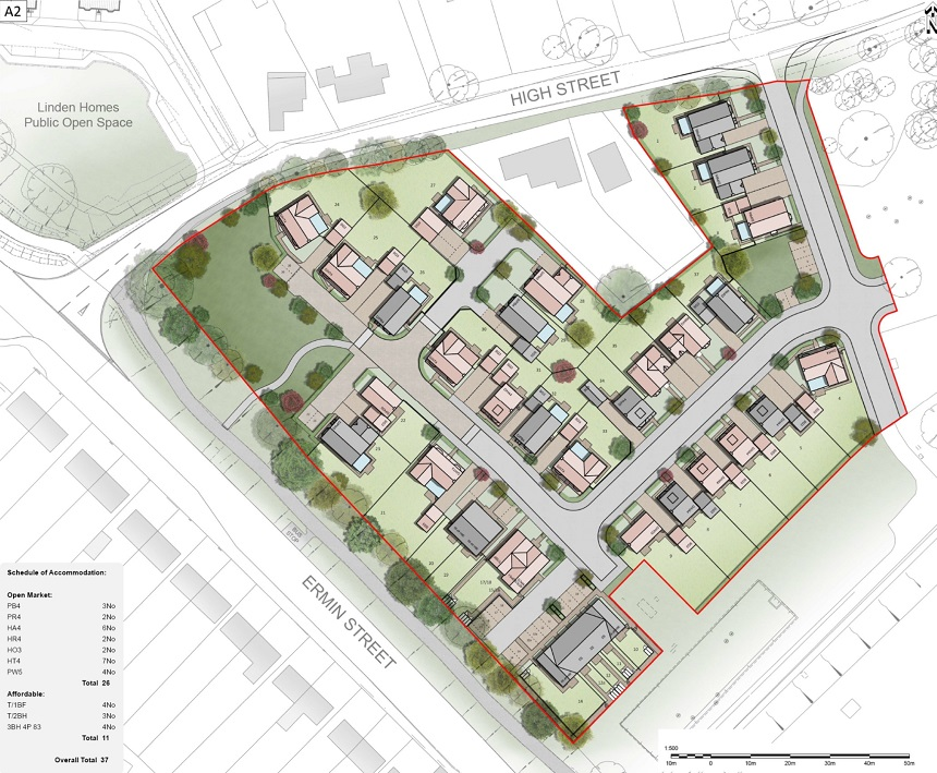 Proposals for 37 homes at Blunsdon